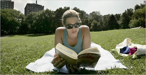Image taken from the New York Times Online. Click through for a summer reading list.